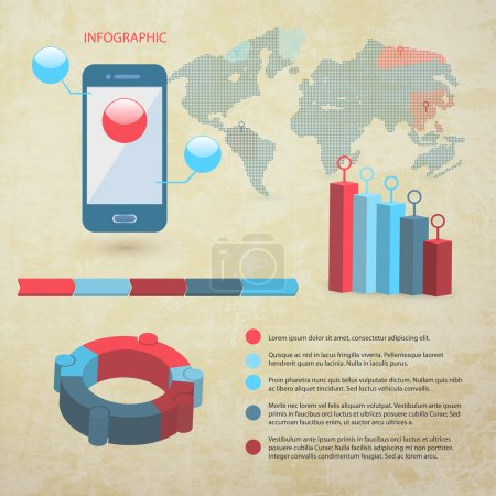 Elements of infographics, vector illustration