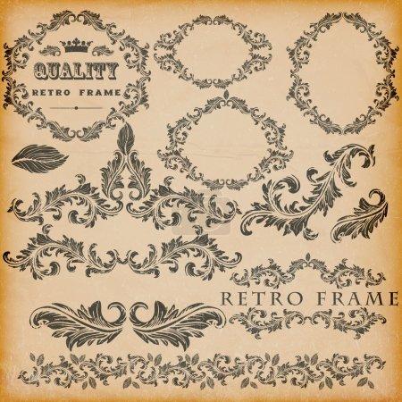 Illustration for Vector set of vintage frames - Royalty Free Image