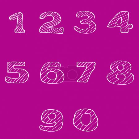 Numbers set, vector illustration