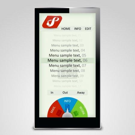 Vektorillustration eines Touchscreen-Smartphones