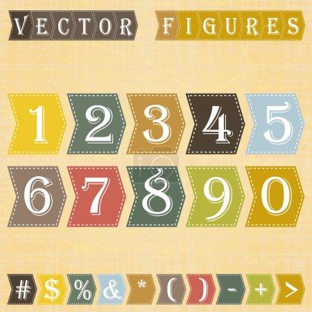 Numbers set. , vector illustration