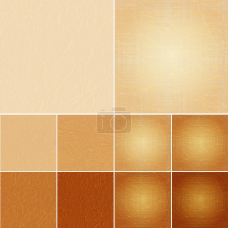 Vector set of leather backgrounds.