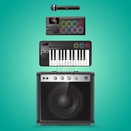 equipo de sonido vector iconos