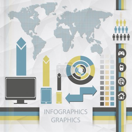 Illustration for Elements of infographics, vector illustration - Royalty Free Image
