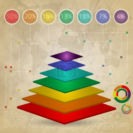 Illustration pour Éléments d'infographie, illustration vectorielle - image libre de droit