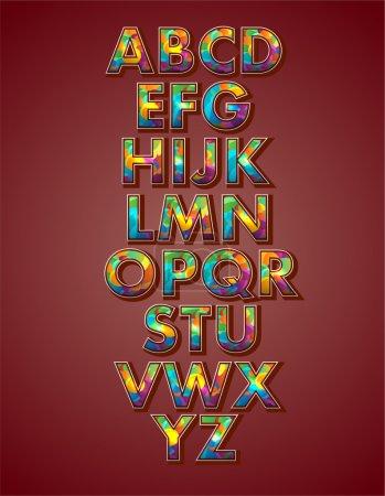 Vector alphabet, vector illustration