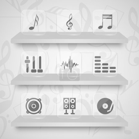 Vector set of sound icons.