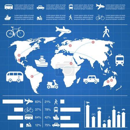 eine Reihe von infografischen Elementen