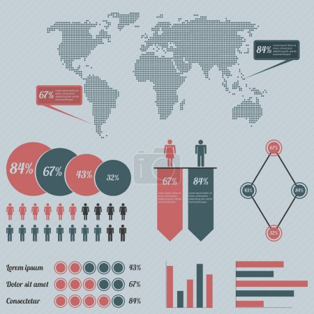 Infographics with a population