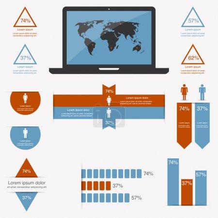 Illustration pour Infographies avec une population - image libre de droit