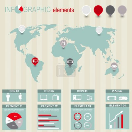 Illustration for Set of infographic elements - Royalty Free Image