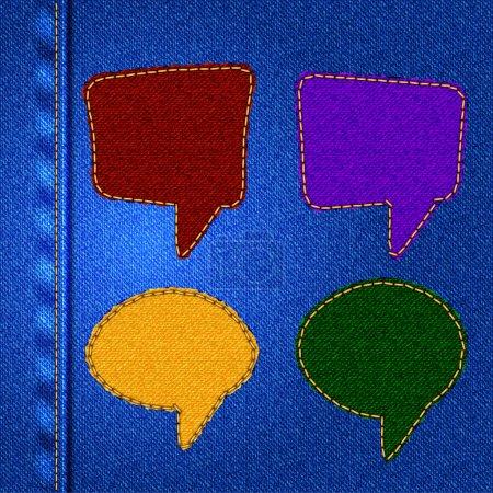 Illustration pour Ensemble de bulles de parole vecteur - image libre de droit