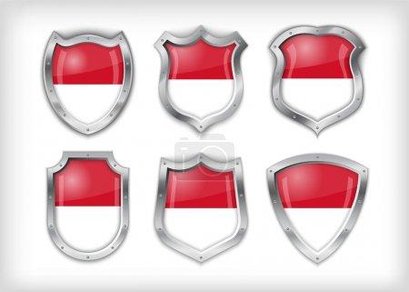Indonesian shield , vector illustration