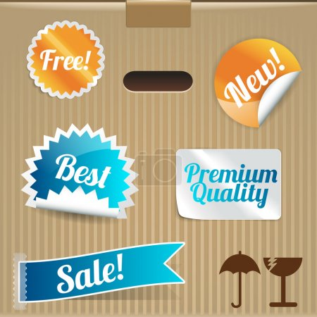 Illustration for Set of vector labels and stickers - Royalty Free Image
