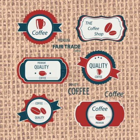 Illustration pour Étiquettes restaurant et cafeshop vecteur - image libre de droit