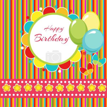 Illustration pour Fond vectoriel joyeux anniversaire - image libre de droit