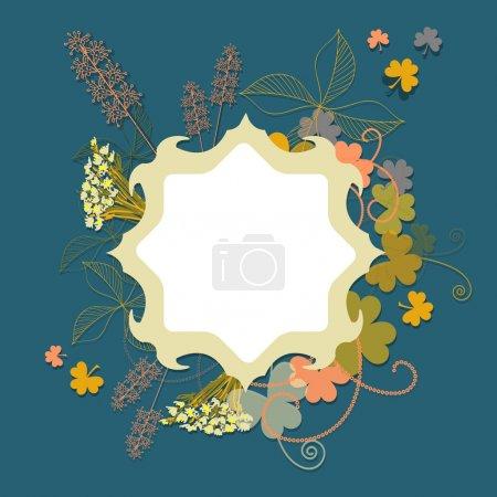Illustration pour Modèle de fond floral vecteur - image libre de droit
