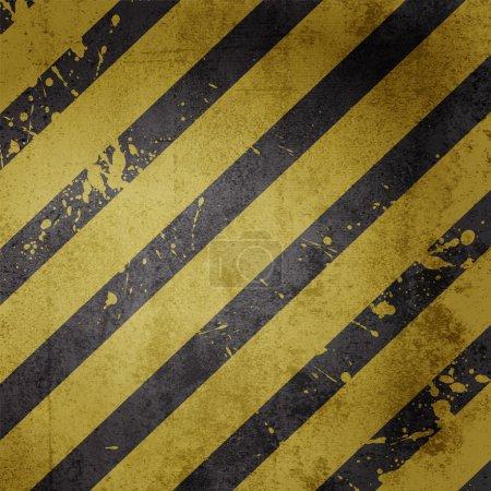Hazard warning line background vector