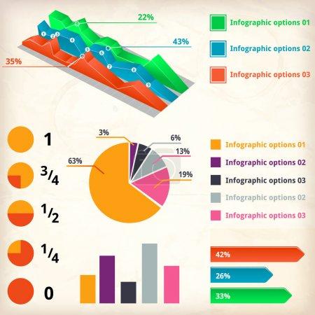 Illustration for Set of infographics elements - Royalty Free Image