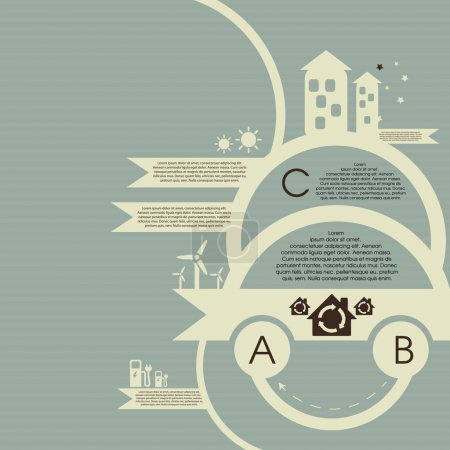 Ecology infographic. Vector background