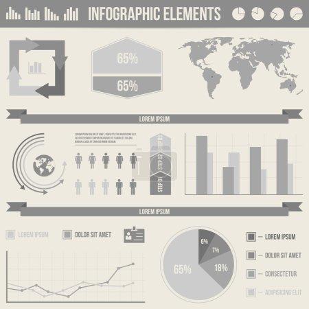 Illustration pour Définir les éléments d'infographie - image libre de droit
