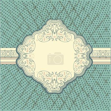 Illustration for Vintage frame. Vector background - Royalty Free Image