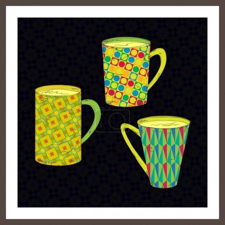 Vector set of cups