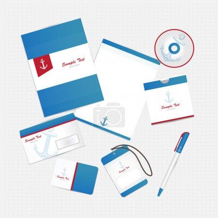 Illustration pour Identité d'entreprise avec ancre - image libre de droit