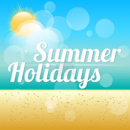 Summer holidays vector background.