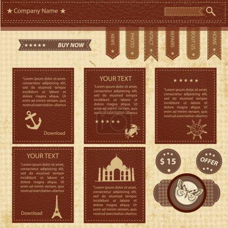Illustration pour Modèle vectoriel de conception de site Web - image libre de droit