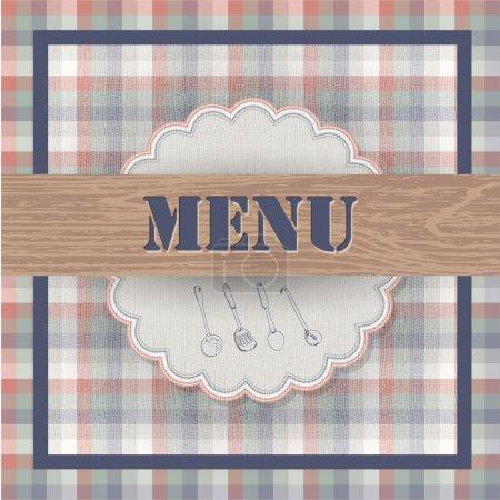 Illustration pour Menu vintage, illustration vectorielle - image libre de droit