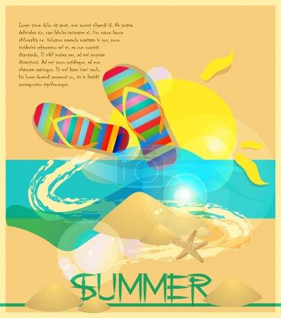 Illustration pour Vacances d'été fond vectoriel . - image libre de droit
