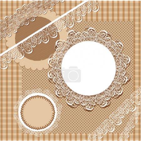 Illustration pour Ensemble vectoriel de cadre vintage - image libre de droit