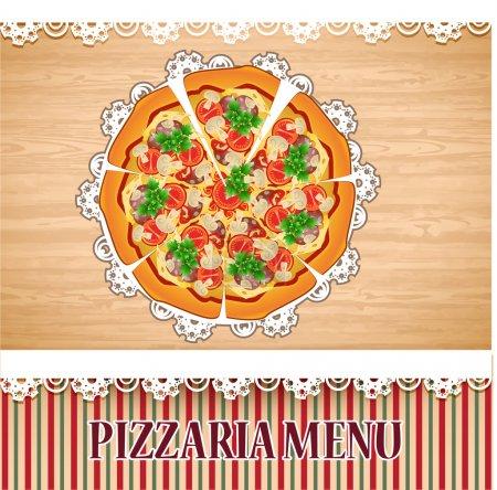 Pizza menu template. Vector illustration