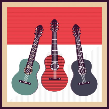 Illustration for Vector background with guitars - Royalty Free Image