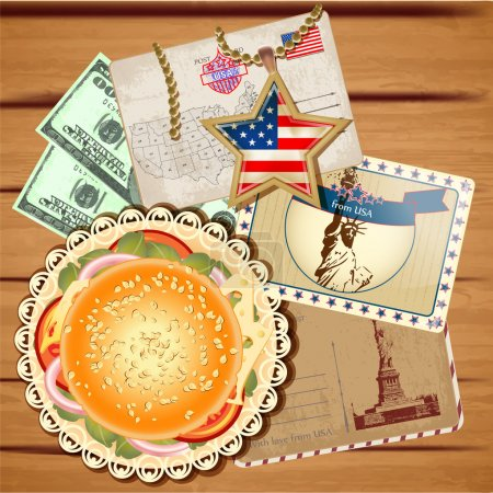 Vector set of travel to America