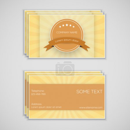 Illustration for Vector business card, vector illustration - Royalty Free Image