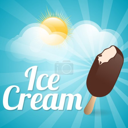 Illustration for Ice cream background., vector illustration - Royalty Free Image