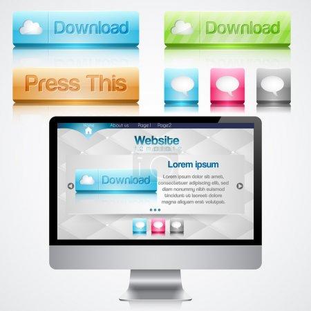 Monitor mit Website-Vorlage