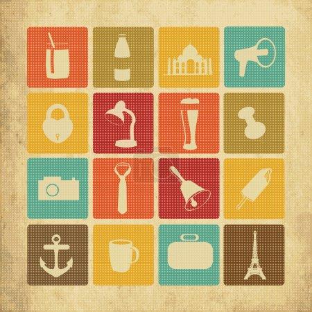 Illustration pour Set icônes, illustration vectorielle - image libre de droit