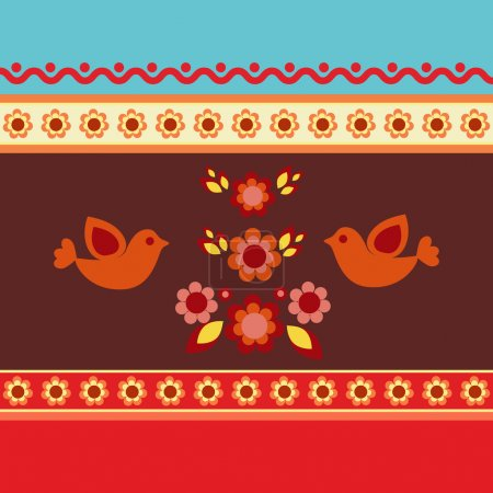 Photo for Illustration ethnic pattern, vector illustration - Royalty Free Image