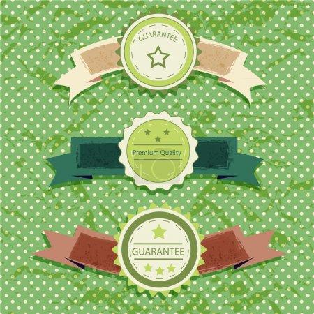 Photo pour Étiquettes vintage sur fond vert - image libre de droit