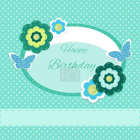 Illustration pour Joyeux anniversaire Carte, illustration vectorielle - image libre de droit