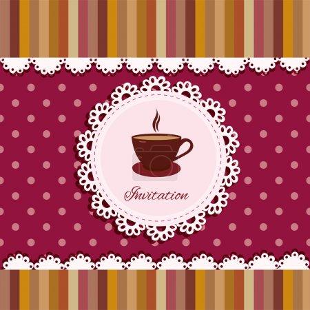 Illustration pour Arrière-plan avec une tasse de thé - image libre de droit
