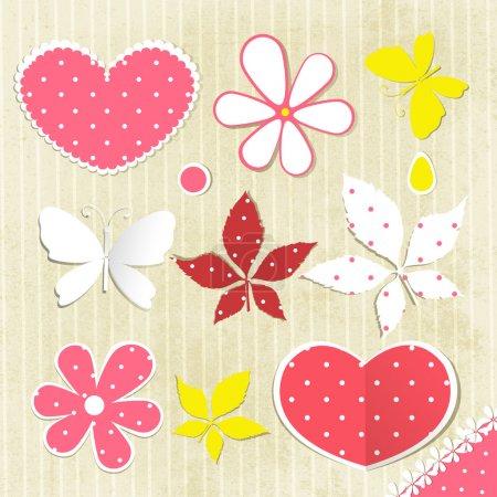 Illustration pour Fond floral, illustration vectorielle - image libre de droit