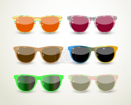 Illustration for Set of multicolored glasses - Royalty Free Image