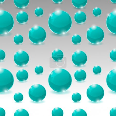 Photo for Vector seamless pattern of bubbles - Royalty Free Image