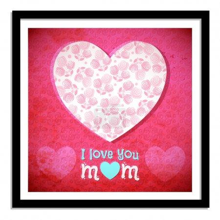 Illustration pour Carte de fête des mères vectorielle - image libre de droit
