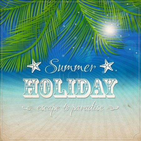 Illustration for Summer grunge textured background. Vector - Royalty Free Image