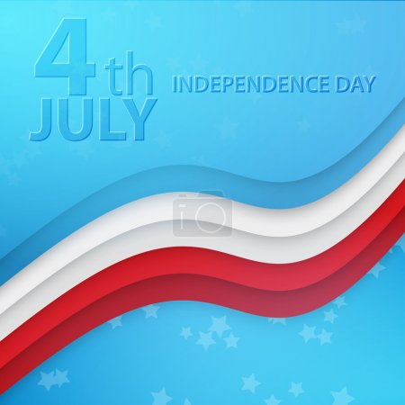 Illustration for Independence Day- 4 of July vector background - Royalty Free Image
